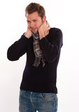 Man with sore throat Stock Photography