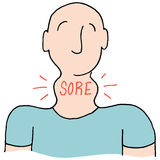 Man with a sore throat. An image of a Man with a sore throat Stock Photos