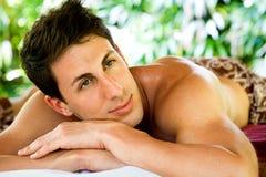 Man At Spa Royalty Free Stock Images