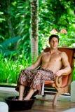 Man At Spa Royalty Free Stock Image