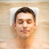 Man in spa Royalty Free Stock Image