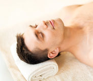 Man in spa Stock Photo