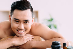 Man in spa center Stock Photography