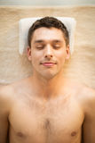 Man in spa Stock Photography