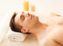 Man in spa Royalty Free Stock Photo