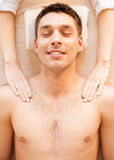 Man in spa Stock Images