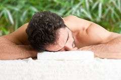 Man in a Spa Royalty Free Stock Images