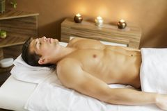 Man in the spa Royalty Free Stock Images