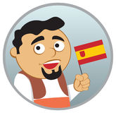 Man from Spain. See more  nationalities in my portfolio Royalty Free Stock Photos