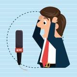 man speaker radio microphone Royalty Free Stock Photos