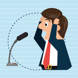 Man speaker radio microphone Royalty Free Stock Images