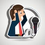 man speaker radio microphone Stock Photos