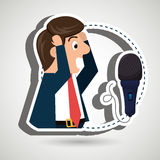 man speaker radio microphone Stock Photography