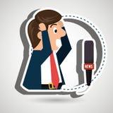 man speaker radio microphone Stock Photo