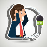 man speaker radio microphone Royalty Free Stock Photo