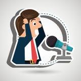 man speaker radio microphone Royalty Free Stock Image