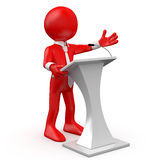 Man speaking at a conference Stock Images