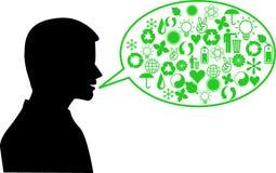 Man speaking envronment Stock Image