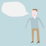 Man speaking out Royalty Free Stock Photo
