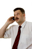 The man speaking by phone Stock Photography