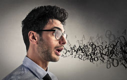 Man speaking Stock Images