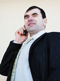 The man speaks on the phone Stock Images