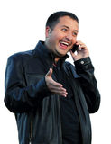 Man  speaks on the phone Royalty Free Stock Image