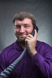Man speaks on the phone Royalty Free Stock Photos