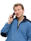 Man speaks on telephone Stock Photography