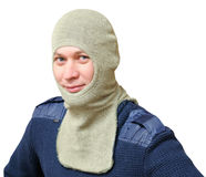 A man in a special fire nomex hood Stock Images