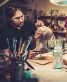 Man in a special fx workshop Royalty Free Stock Photo