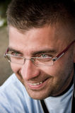 Man in spectacles. Portrait of a smiling man in spectacles Stock Photography