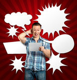 Man With Speech Bubble Stock Image