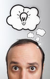 Man with Speech Bubbles over his head Royalty Free Stock Image