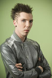 Man With Spiky Hair Royalty Free Stock Photo