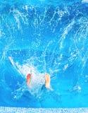 Man splashing Royalty Free Stock Image
