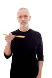 Man with Spoon Royalty Free Stock Image