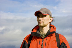 Man in the sport of autumn clothes Royalty Free Stock Photography