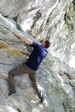 Man is sport climbing Royalty Free Stock Images