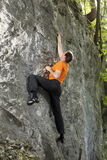 Man is sport climbing Stock Photos