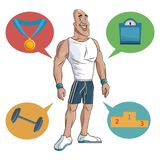 Man sport muscular strong Royalty Free Stock Image