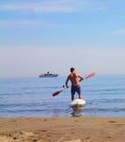 Man sport sea stock image