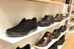 Man sport shoe in the store Stock Photo