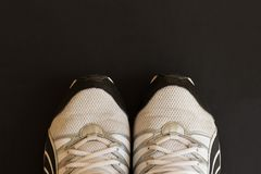 Man sport sneakers. royalty free stock photo
