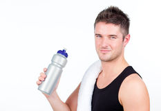 Man with a sports bottle Stock Photos