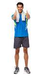 Man In Sports Clothing Gesturing Thumbs Up Royalty Free Stock Photo