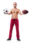 The man in sports concept on white Royalty Free Stock Photography