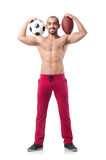 The man in sports concept on white Royalty Free Stock Image
