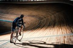 Man on sports track Royalty Free Stock Photo