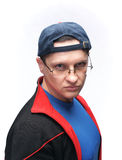 Man in sportswear. Handsome man with glasses in sportswear Royalty Free Stock Photo
